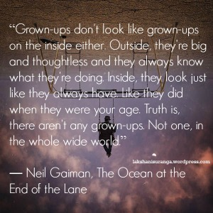 quote from Ocean at end of Lane