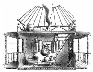 illustration of balloon house