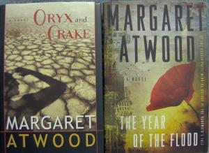 covers of Oryx and Crake and In the Year of the Flood