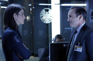 Maria Hill and Phil Coulson
