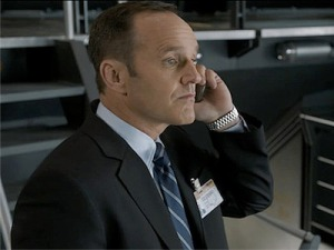 What I imagine Coulson's married life would be like:  Hi honey.  Could you pick up my shirt from the drycleaners?  and see if they got those bloodstains out?  Thanks a mill.
