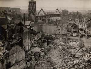 The remains of Swansea after the three day blitz