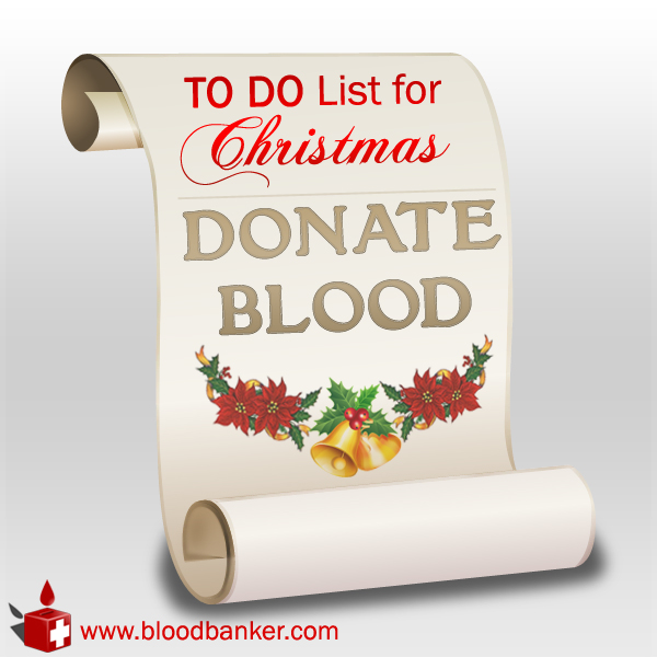 Christmas Blood Drive.Blood Donation Geek Girl In Love