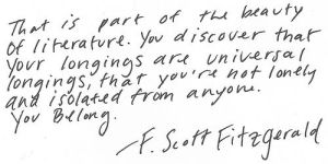Quote from F. Scott Fitzgerald