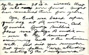 handwritten letter from Jack London to Marshall Bond