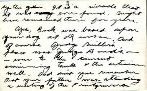 handwritten letter from Jack London to Marshall Bond