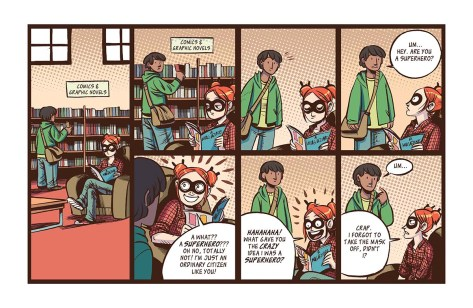 strip from superhero Girl
