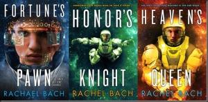 covers of Fortune's Pawn, honor's Knight, and Heaven's Queen