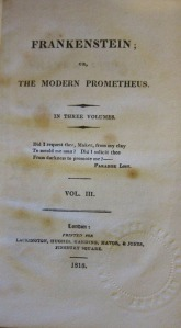 original cover of Frankenstein