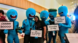 the meeseeks from Rick and Morty!