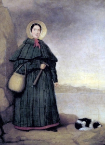 Portrait of Mary Anning and her dog