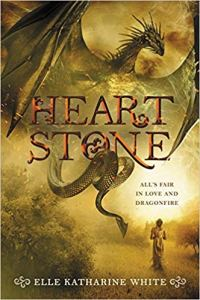 cover of Heartstone, featuring yellow dragon