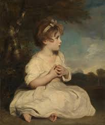 """Age of Innocence"" by Sir Joshua Reynolds (painting of little girl)"