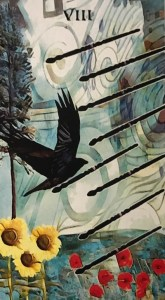 Crow Tarot Eight of Wands